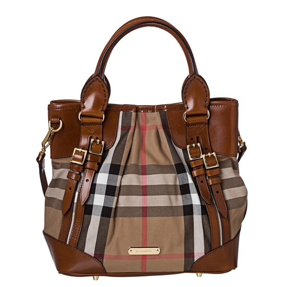 ab3717cc761 Burberry Handbags - Burberry Small Bridle House Check Whipstitch Tote